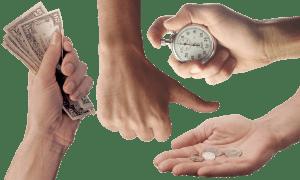 שעון ידיים וכסף